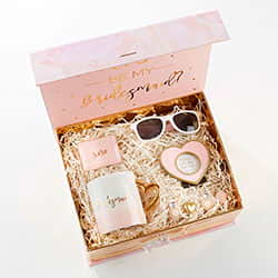 Pink & Gold Will You Be My Bridesmaid Kit Gift Box