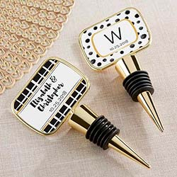 Personalized Gold Bottle Stopper - Modern Classic