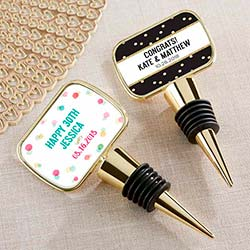 Personalized Gold Bottle Stopper - Party Time