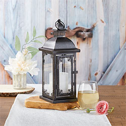 Antique Black Decorative Lantern - Medium