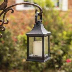 LED Vintage Decorative Black Lantern - Shanghai (Set of 2)