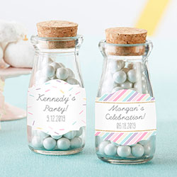 Personalized Vintage Milk Bottle Favor Jar - So Sweet (Set of 12)