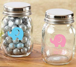Personalized Printed  Mini Mason Jar - Little Peanut