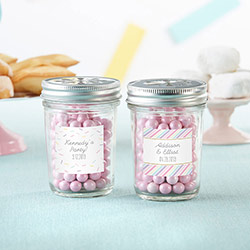 Personalized 8 oz. Glass Mason Jar - So Sweet (Set of 12)