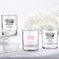 Personalized 2 oz. Shot Glass/Votive Holder - Little Princess