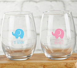 Personalized 9 oz. Stemless Wine Glass - Little Peanut
