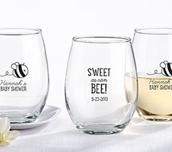 Personalized Stemless Glass - Sweet As Can Bee