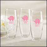 Personalized 9 oz. Stemless Champagne Glass - Little Peanut